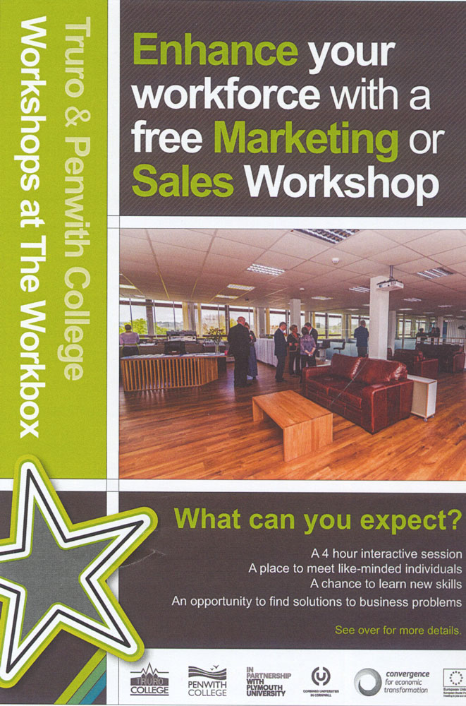 MARKETING AND SALES WORKSHOPS AT THE WORKBOX